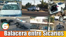 Sicarios se enfrentan a balazos en Sinaloa
