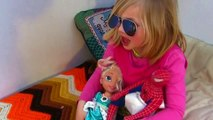 Frozen Elsa Saved by Tarzan! Spiderman Kidnapped! Frozone & Princess Elena of Avalor in th