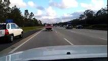 Incroyable : un pigeon essaie de faire la course avec les voitures sur l'autoroute !