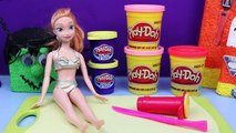 Frozen Anna in Play Doh Halloween Costume Cupcake Tutorial and Parody by DisneyCarToys Nic