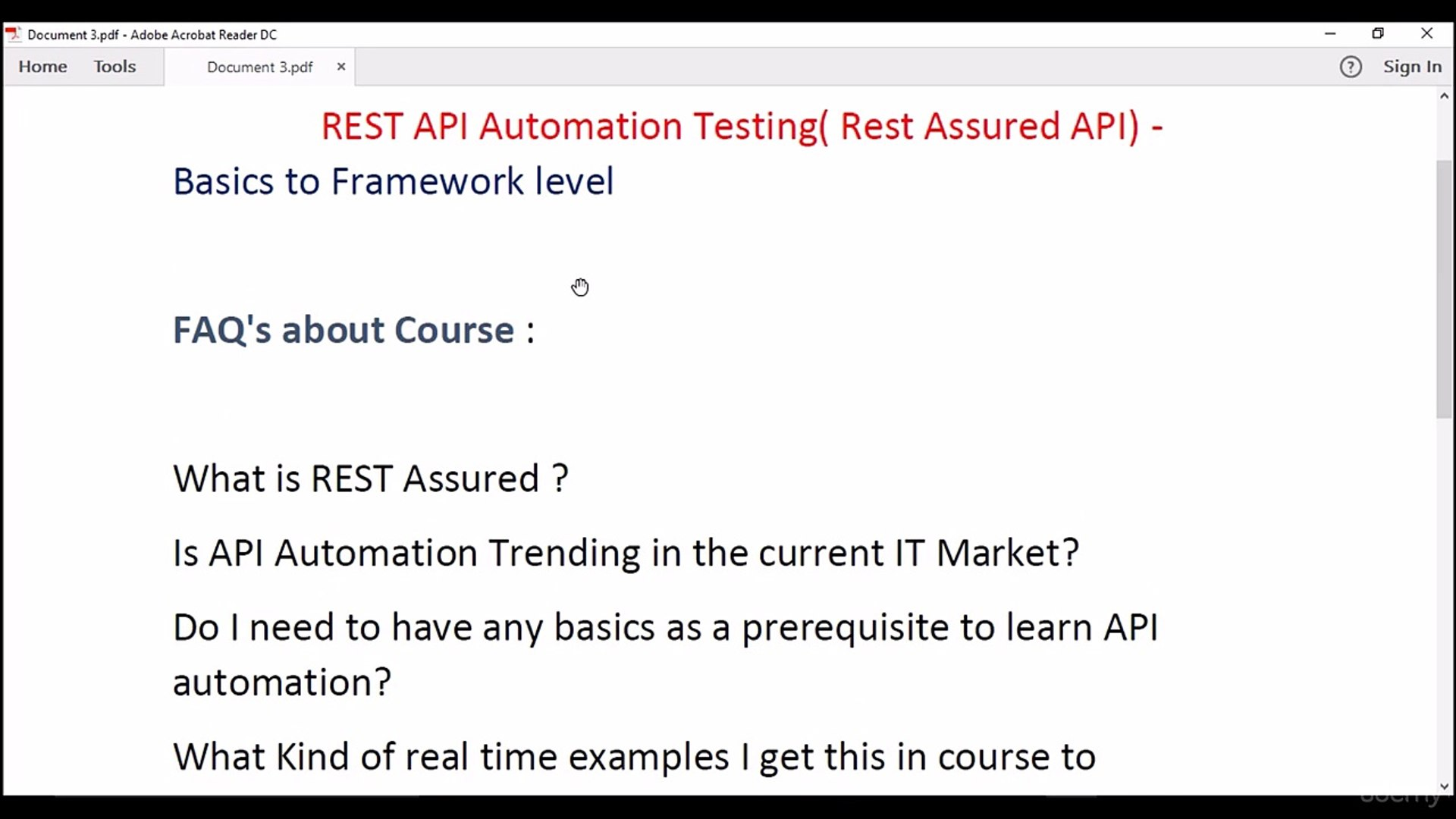 REST API Automation testing from scratch
