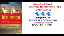 PDF] Analytics for Insurance: The Real Business of Big Data