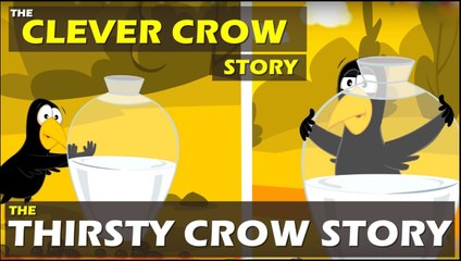 The Clever Crow Story In English ¦ Thirsty Crow Story ¦ Twinkle Tv