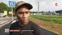 """Barrages filtrants, commerces fermés... La Guyane connaît son premier jour de """"grève générale illimitée"""""""