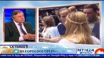 """""""Hace ocho meses que no veo a Leopoldo"""": cuenta entre lágrimas a NTN24, Leopoldo López Gil, padre del preso político Leopoldo López"""