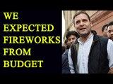 Budget 2017 : Rahul Gandhi slams Jaitley for weak budget | Oneindia News