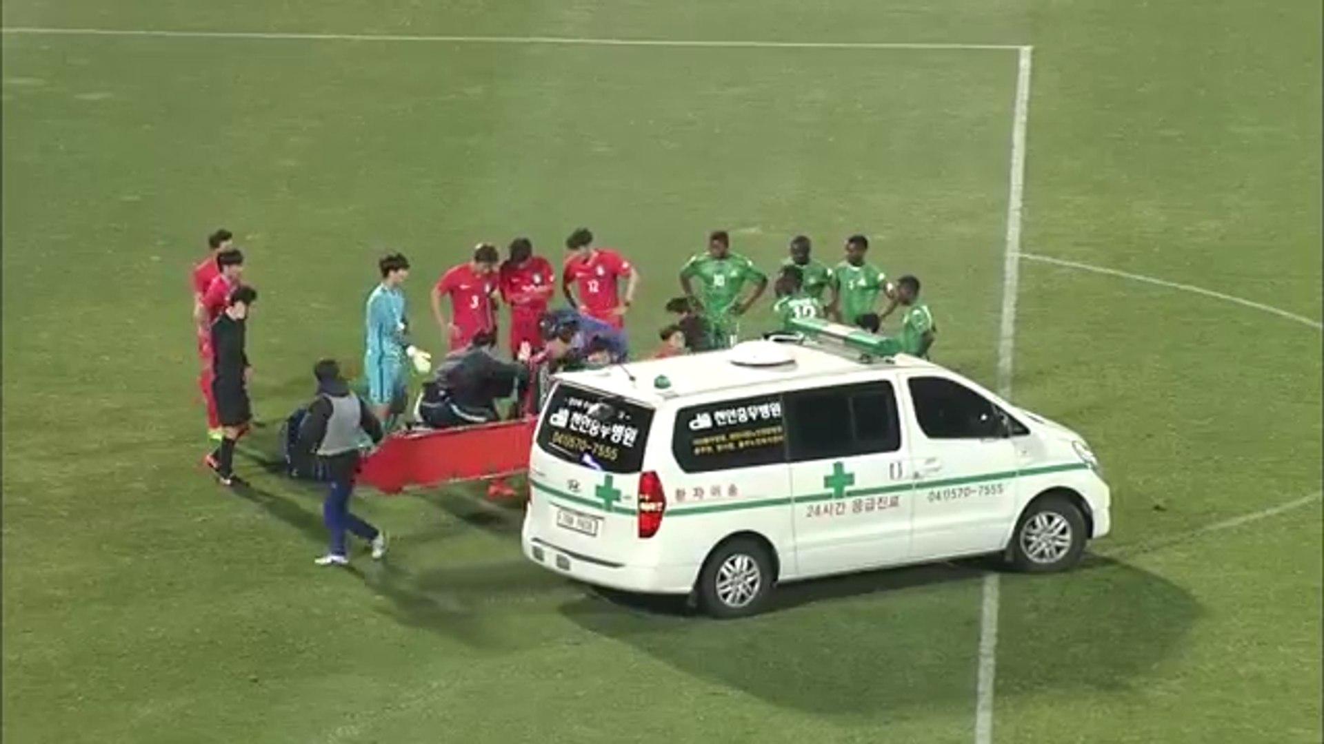 South Korea U-20 Player Suffers Horrible Injury vs Zambia!