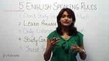 5 English Speaking Rules - English Speaking Lesson
