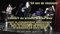 """Concert """"50 ans de chansons"""" du groupe Wacky Way (première partie)"""