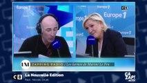 Marine Le Pen rit aux larmes devant Nicolas Canteloup