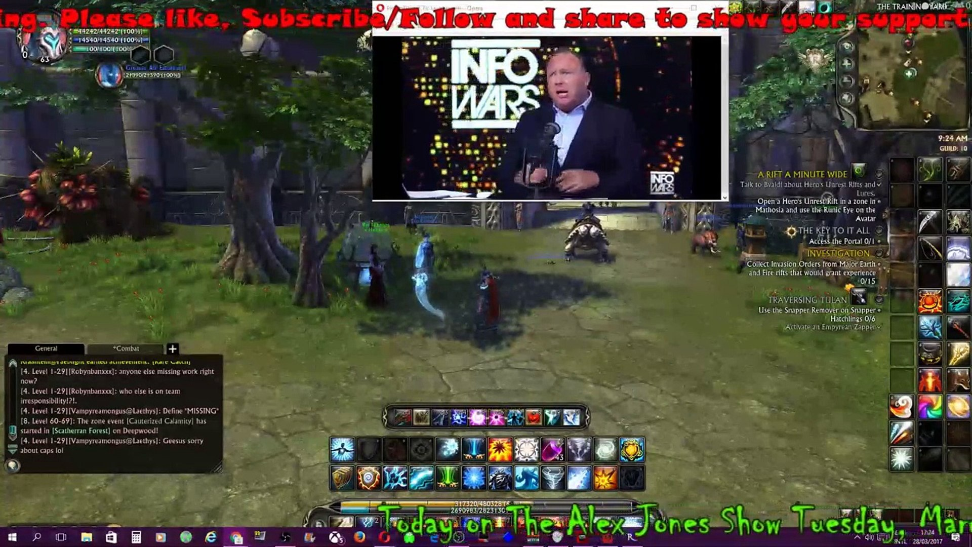Rift Starfall Prophecy with INFOWARS Audio 03-28-2017 LIVE STREAM LINK infowars.com/show (11)