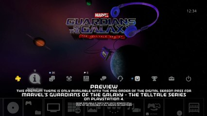Marvel's Guardians of the Galaxy – The Telltale Series : PS4 Pre-Order Exclusive Theme