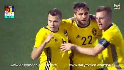 Viktor Claesson Goal Portugal 2 - 1 Sweden Friendly 28-3-2017