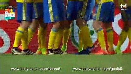 Joao Cancelo OWN Goal Portugal 2 - 3 Sweden Friendly 28-3-2017