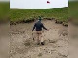 Le golf n'est pas toujours un sport de détente !