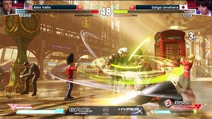 No primeiro encontro entre Daigo Umehara e Alex Valle no Street Fighter V, o mito japonês leva a melhor