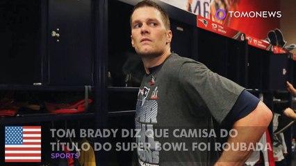 Tom Brady diz que camisa do título do Super Bowl foi roubada, mas não foi.