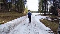 """Début vidéo """"Ski nordique et aquarelle épisode 2, La caverne des mystères"""""""
