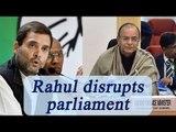 Arun Jaitley slams Rahul Gandhi for disrupting parliament | Oneindia news