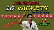 10 Wickets in a Cricket Match by Anil Kumble against Pakistan●► W W W W W W W W W W