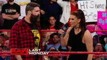Charly Caruso, Sami Zayn and Stephanie McMahon Backstage Segment