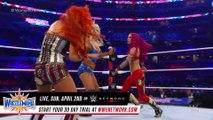 Raw Women's Championship: Becky Lynch vs. Charlotte Flair (w/ Ric Flair) vs. Sasha Banks