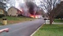Un avion Cessna s'écrase sur une maison en Géorgie. { Etats-Unis }