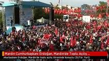 Mardin Cumhurbaşkanı Erdoğan, Mardin'de Toplu Açılış Töreninde Konuştu