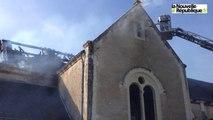 Selles-Saint-Denis (Loir-et-Cher) : incendie de l'église