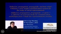 "Hommage à Serge Moscovici / ""Diffusion, propagation, propagande : et après ? (...)"""