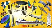 Space Vehicles for Kids - Space Shuttle Rocket Rover Probe Satellite Soyuz Spacecraft