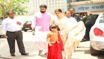 Aishwarya Rai Bachchan And Abhishek Bachchan Pays Homage To Krishnaraj Rai
