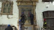 En Italie, des Casques bleus sauvent le patrimoine des églises touchées par le séisme