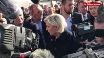 """Bretagne. Marine Le Pen : """"Les agriculteurs pillés"""" par """"des bandes d'étrangers"""""""