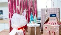 DIY Christmas Holiday Gift Basket Idea -  Basket with P