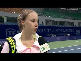 Anna Blinkova speaks after advancing to the ITF Junior Masters semifinals