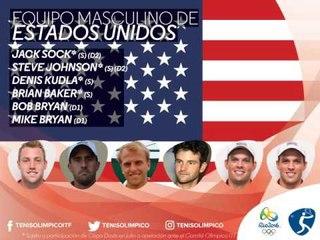 Rio 2016: clasificados singles y dobles masculino TENIS