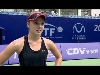 Katie Swan interview after reaching the Junior Masters final