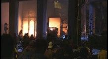 Manifestantes incendian el Parlamento en Paraguay