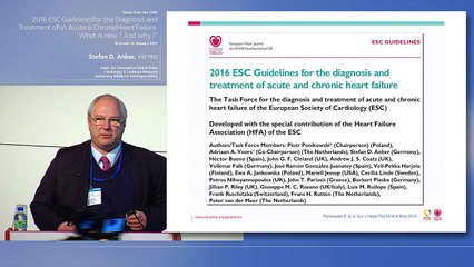1.Presentation of the new Heart Failure guidelines - Pr Stefan Anker (Göttingen, Germany)
