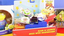 Disney Pixar Toy Story Slam And Launch Buzz Lightyear With Skateboard With Lotso Alien And Woody-rivnGGFpZuE