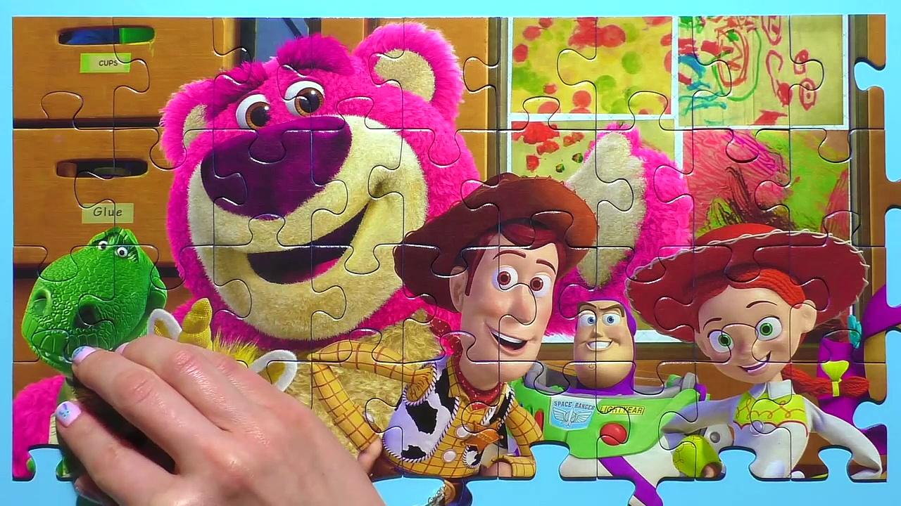 Learn Puzzle TOY STORY Potato Head, Woody, Buzz Lightyeadsa