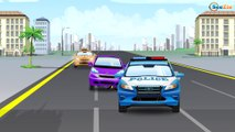 The Police car Vs Race CARS Service Vehicle & Car Video for children - Cars & Trucks for Kids