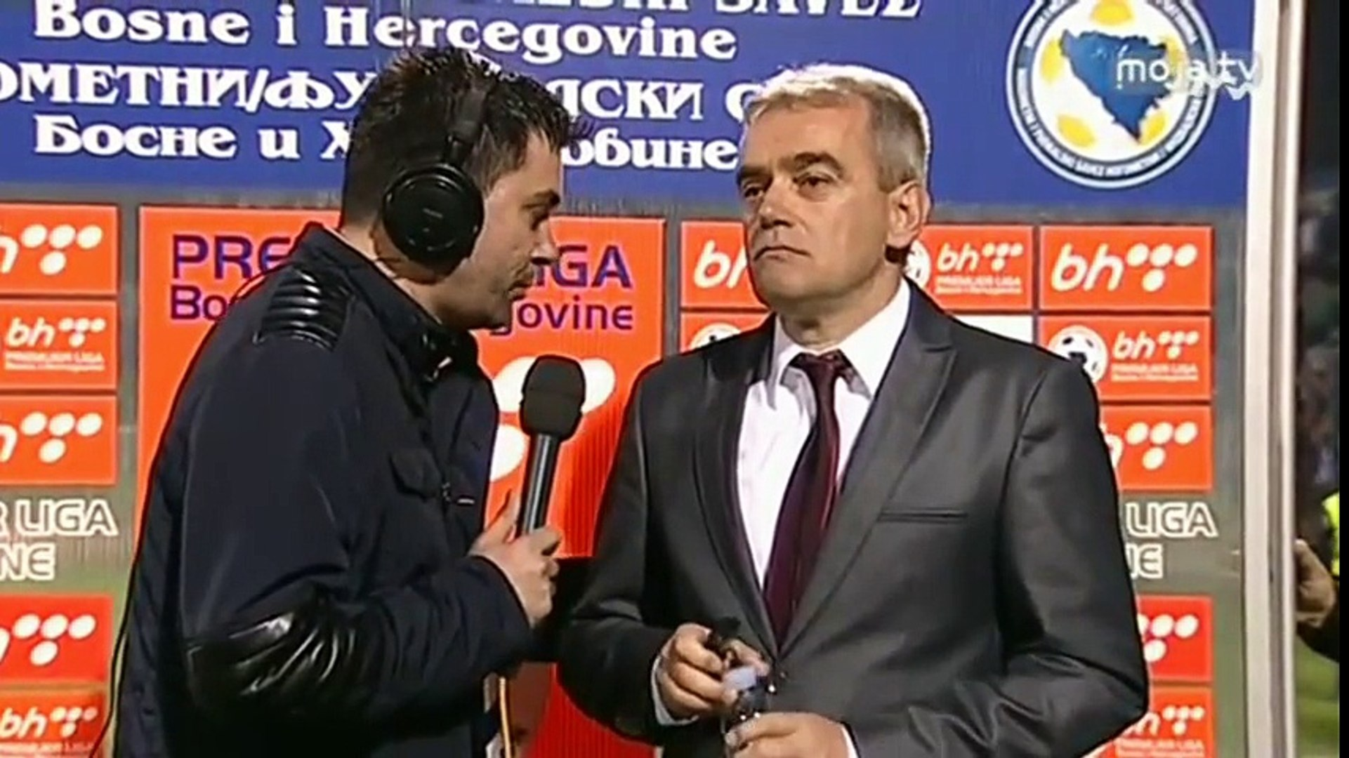 FK Željezničar - FK Sloboda 1:0 / Izjava Jagodića (1.pol)