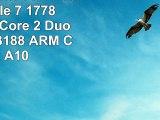 Thomson NEO714W Tablette Tactile 7 1778 cm Cortex Core 2 Duo Rockchip 3188 ARM Cortex