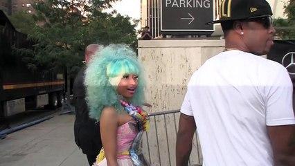 Nicki Minaj Poses Topless in Dressing Room