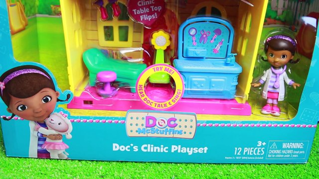 PLAY HOUSE Clinic + Dr Sandra McStuffins Baby Doctor Check Up Doc McStuffins Newborn Hospital Visit