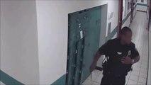 Regardez ce qui terrorise ce policier... Ahaha l