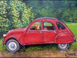 2cv en peinture - par Virginie TRABAUD Artiste peintre