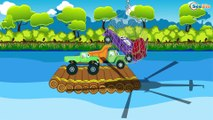 el Tren y la Grúa en Auto City | Dibujos animados para niños- Carritos para ni